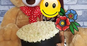 flower box boneka